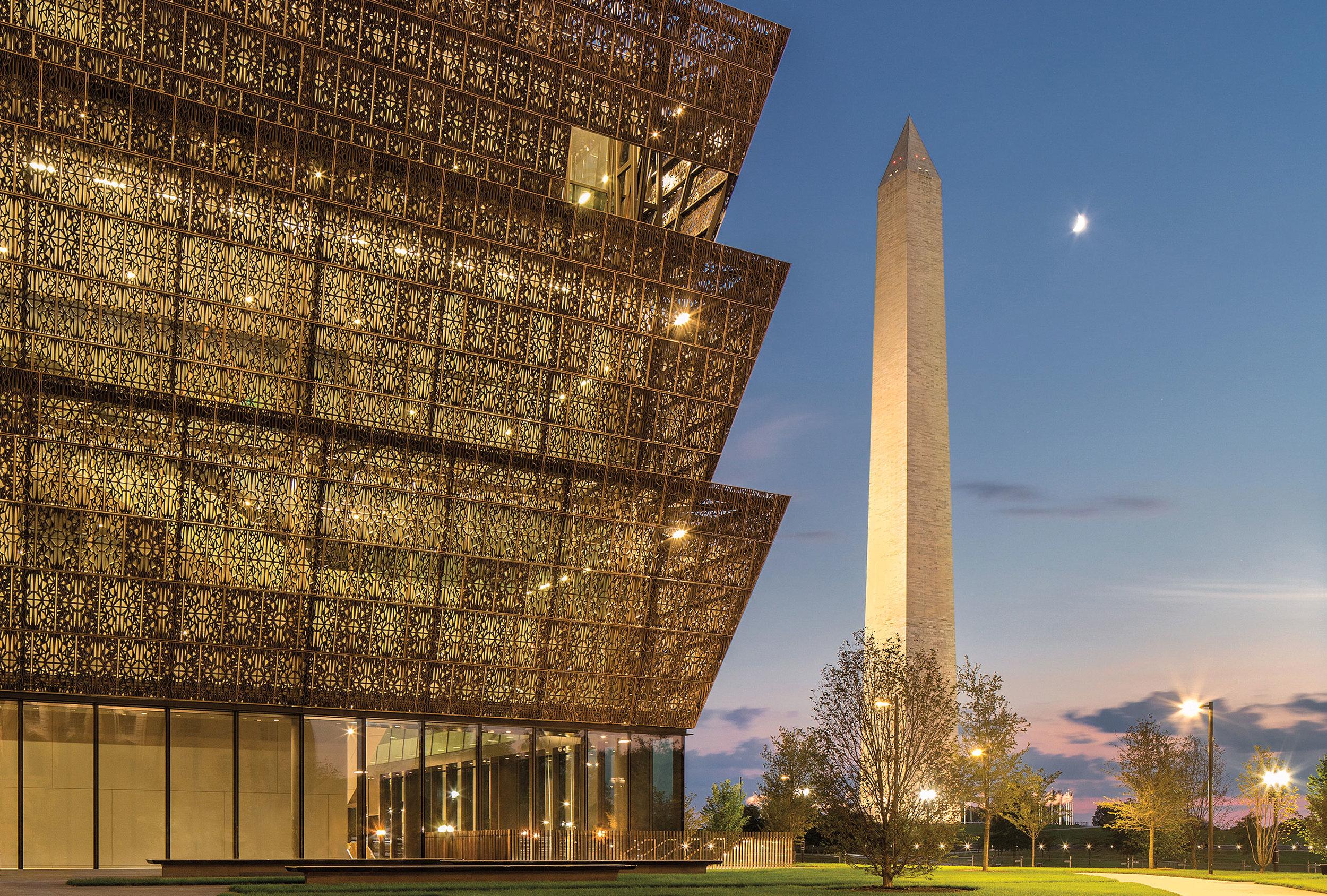 大卫·阿贾耶爵士设计的美国首都华盛顿的史密森尼国家博物馆(Smithsonian Institute National Museum of African American History and Culture)。