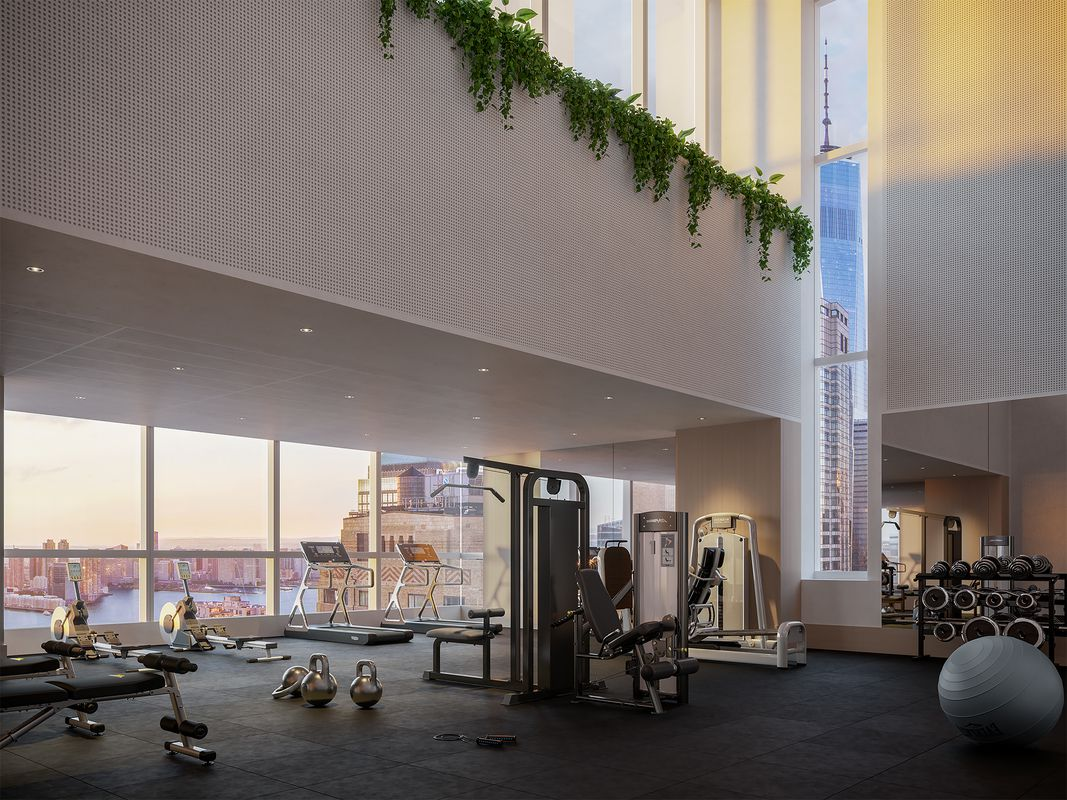 健身房也能观赏水景