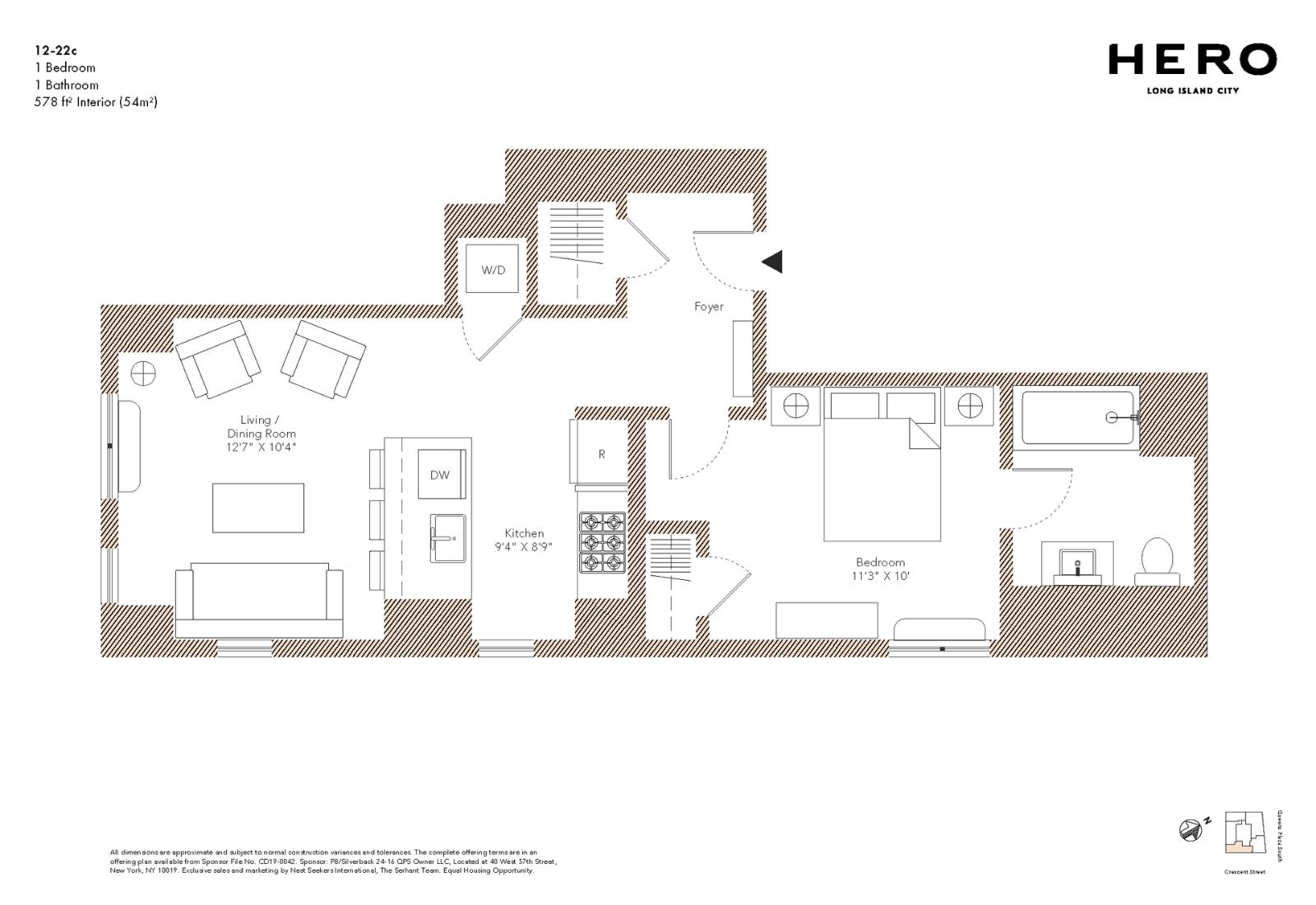 C Line:一室一厅户型