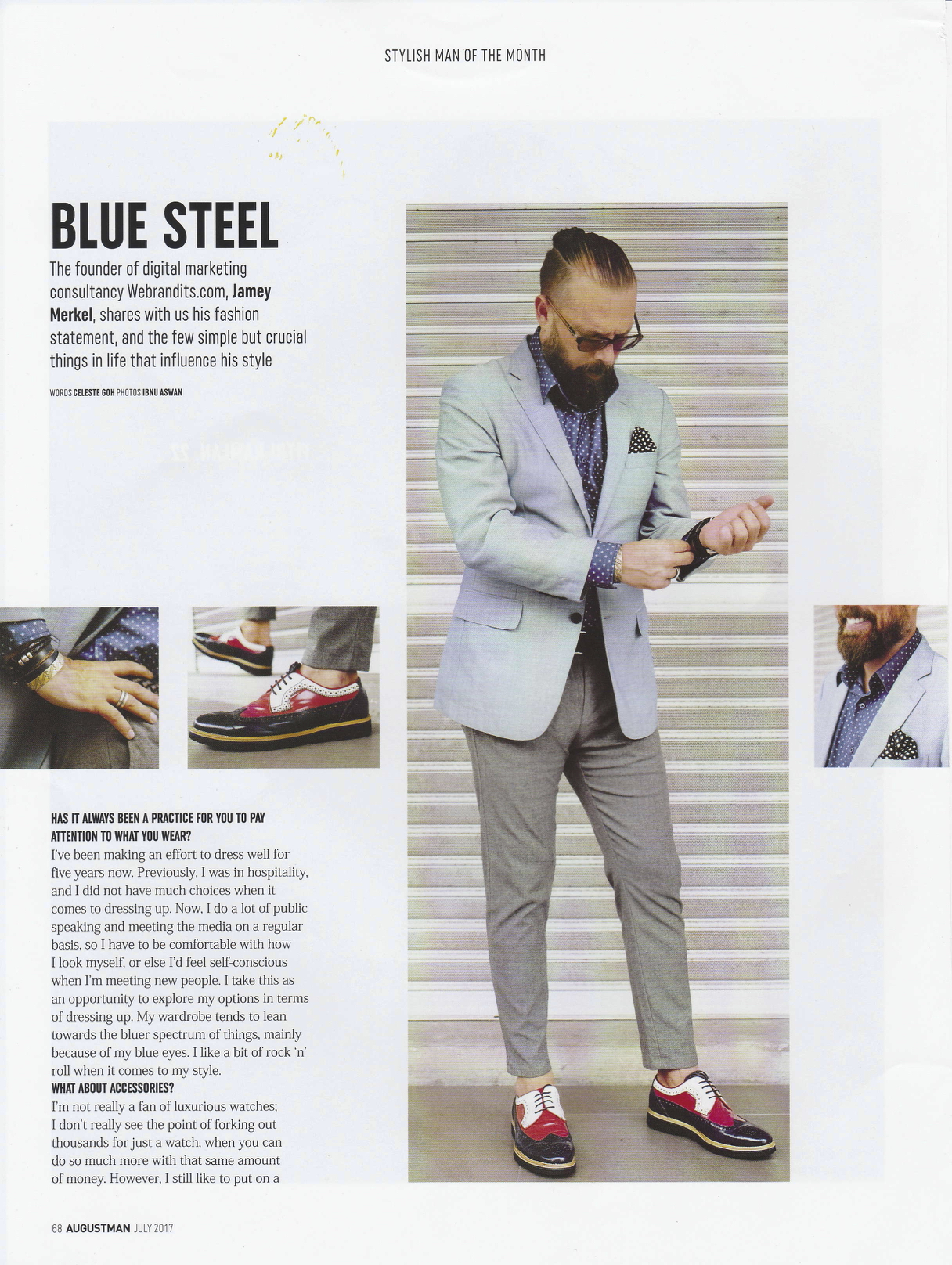 Augustman: Stylish man of the the month