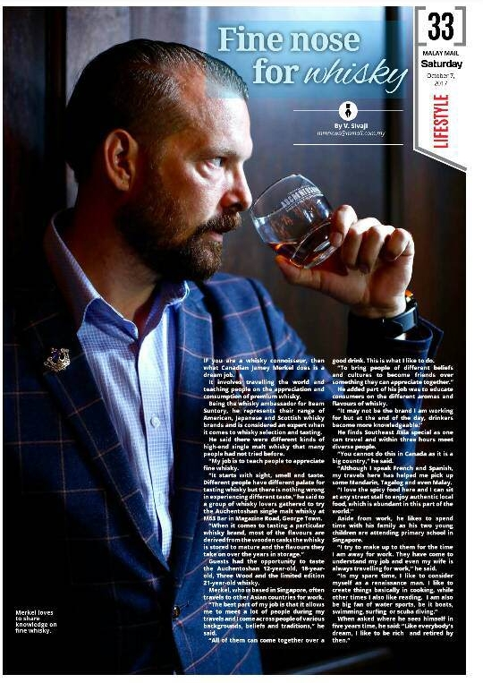 The Malay Mail:  Fine nose for Whisky