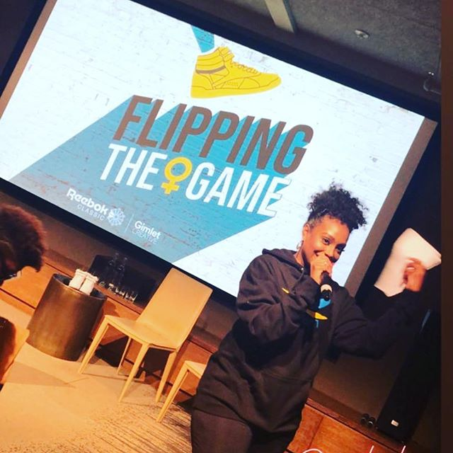Flipping the game podcast hosted by @scottiebeam is NOW available. Check my baby out So proud of her. @reebok @reebokwomen @reebokflippingthegame
