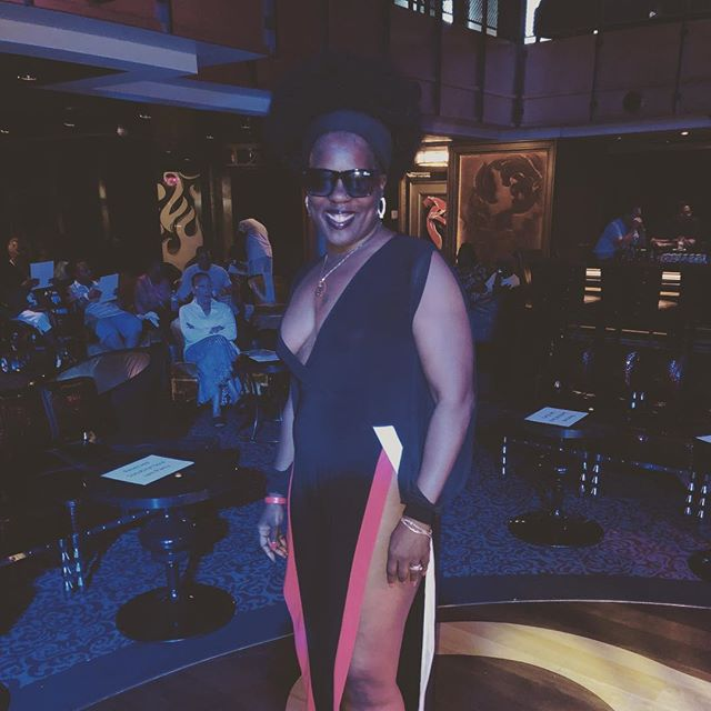 Foxy Brown Donna at the Throwback Party @royalcaribbean #SoulJam18 #anthemoftheseas