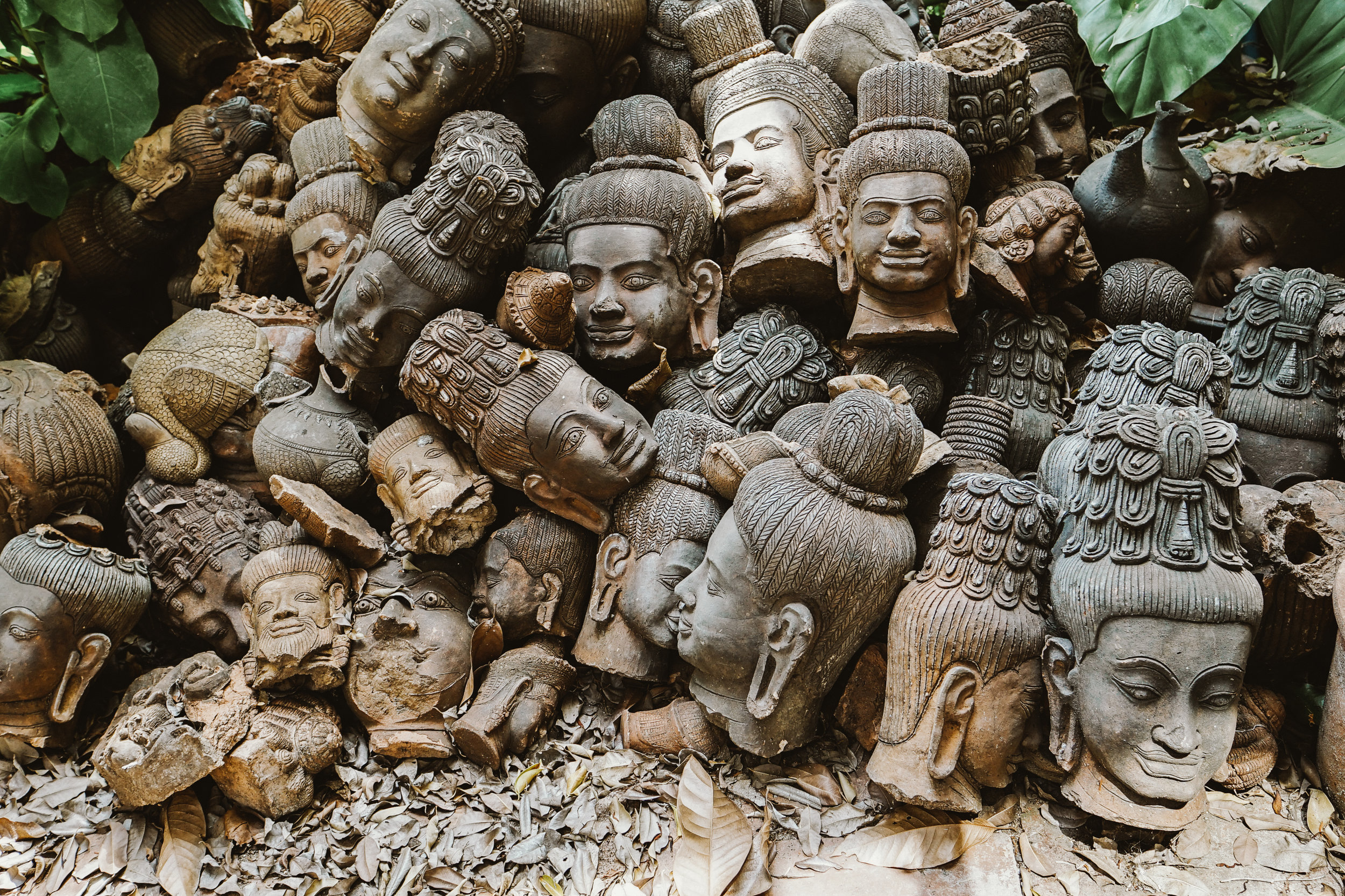 Faces Statues