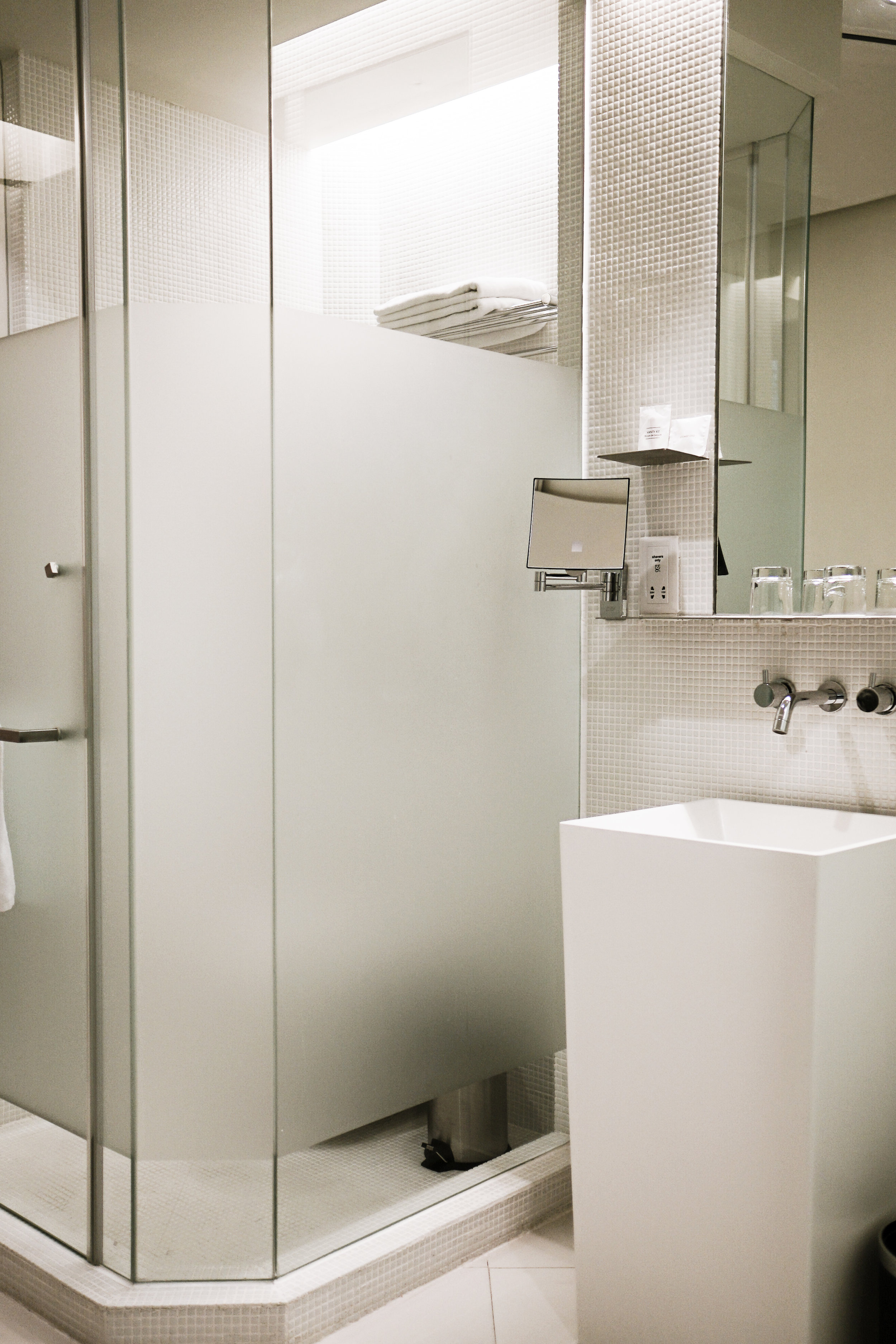 White Blur Bathroom