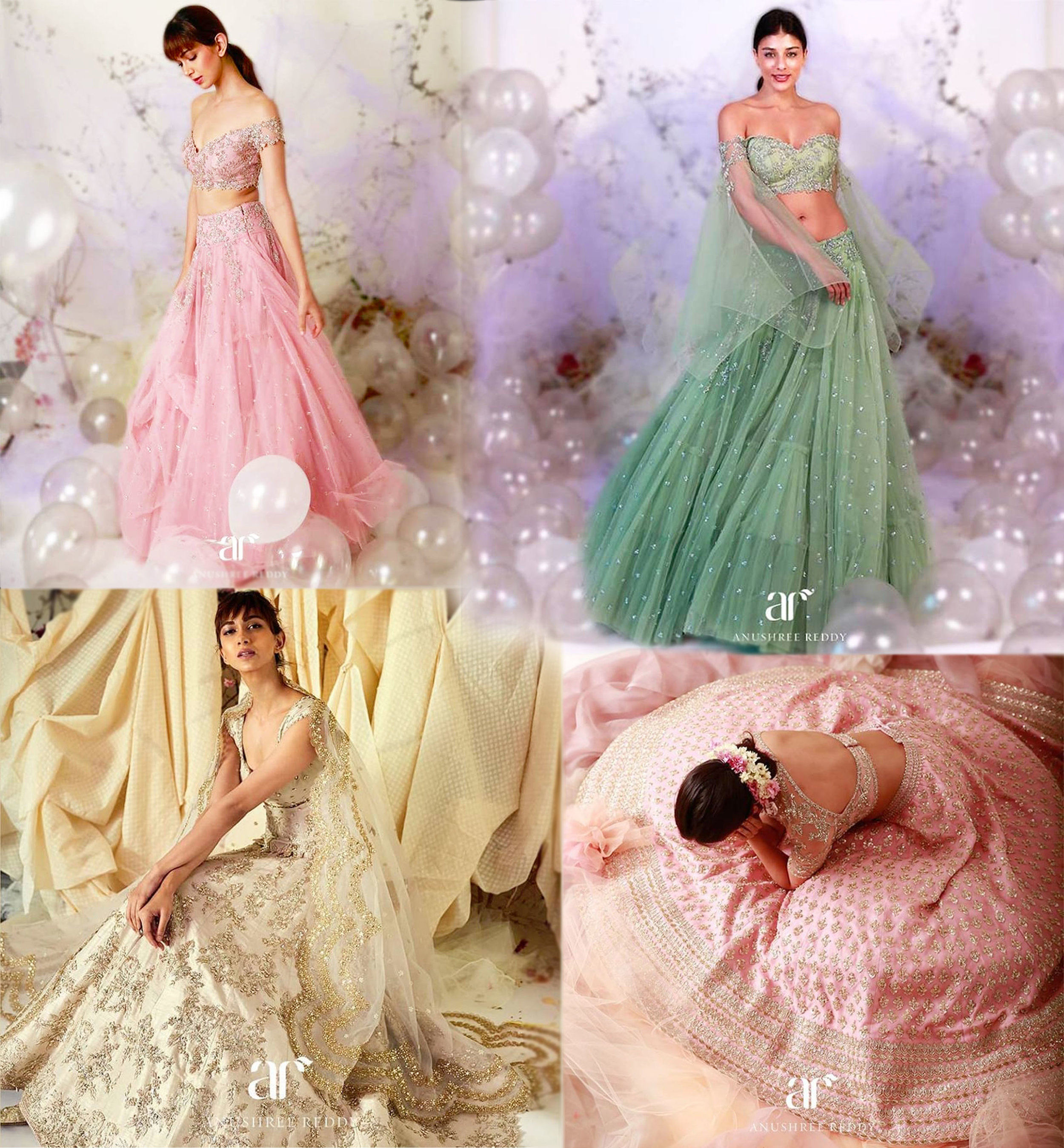 Anushree Reddy - A collection for summer that has a refreshing take on pastels, with lots of delicate, embroidery bead work.