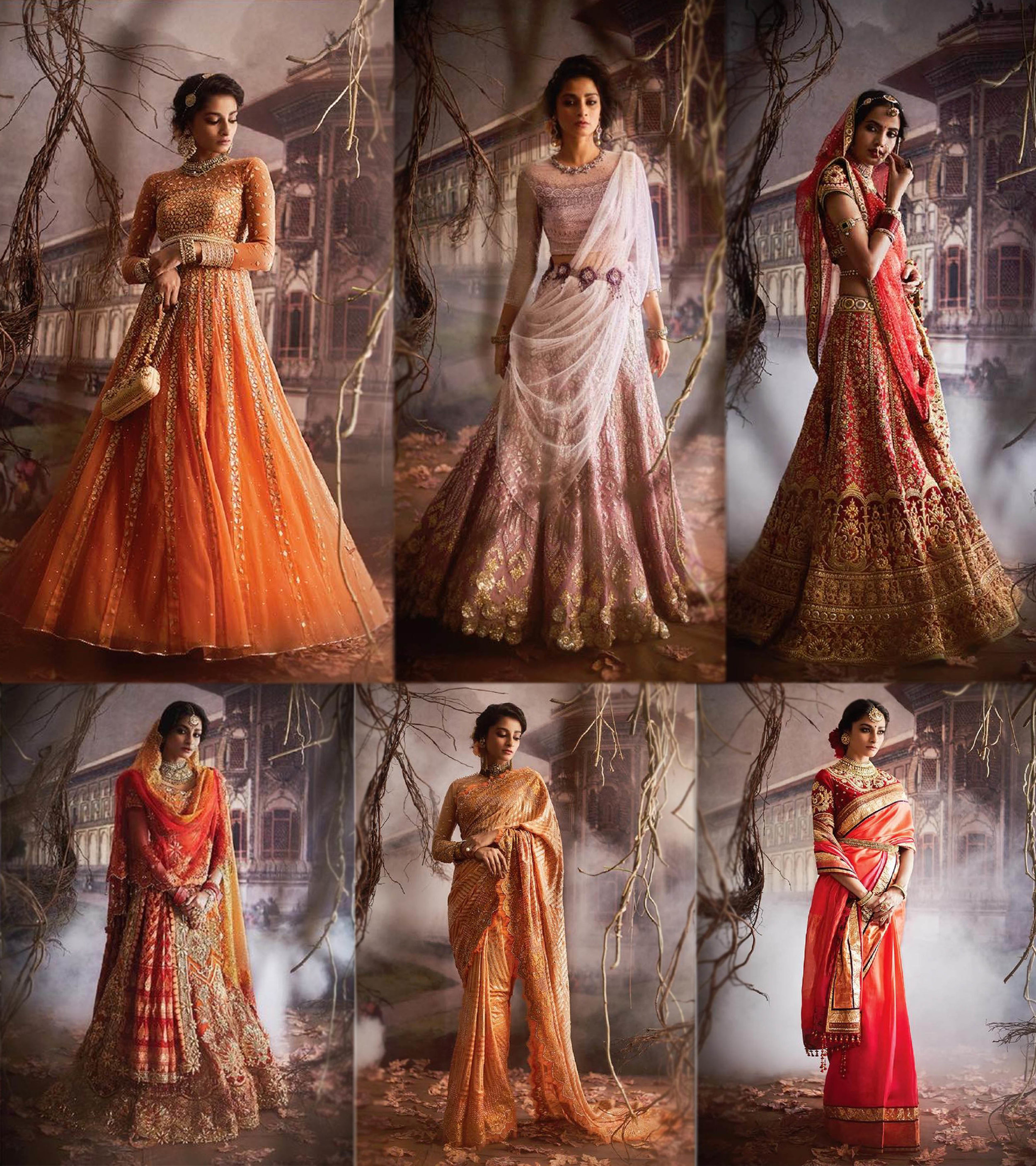 Tarun Tahiliani - These lehengas draw inspiration from royal lavishness and opulent traditions. Perfect for bridal wear on your wedding day.