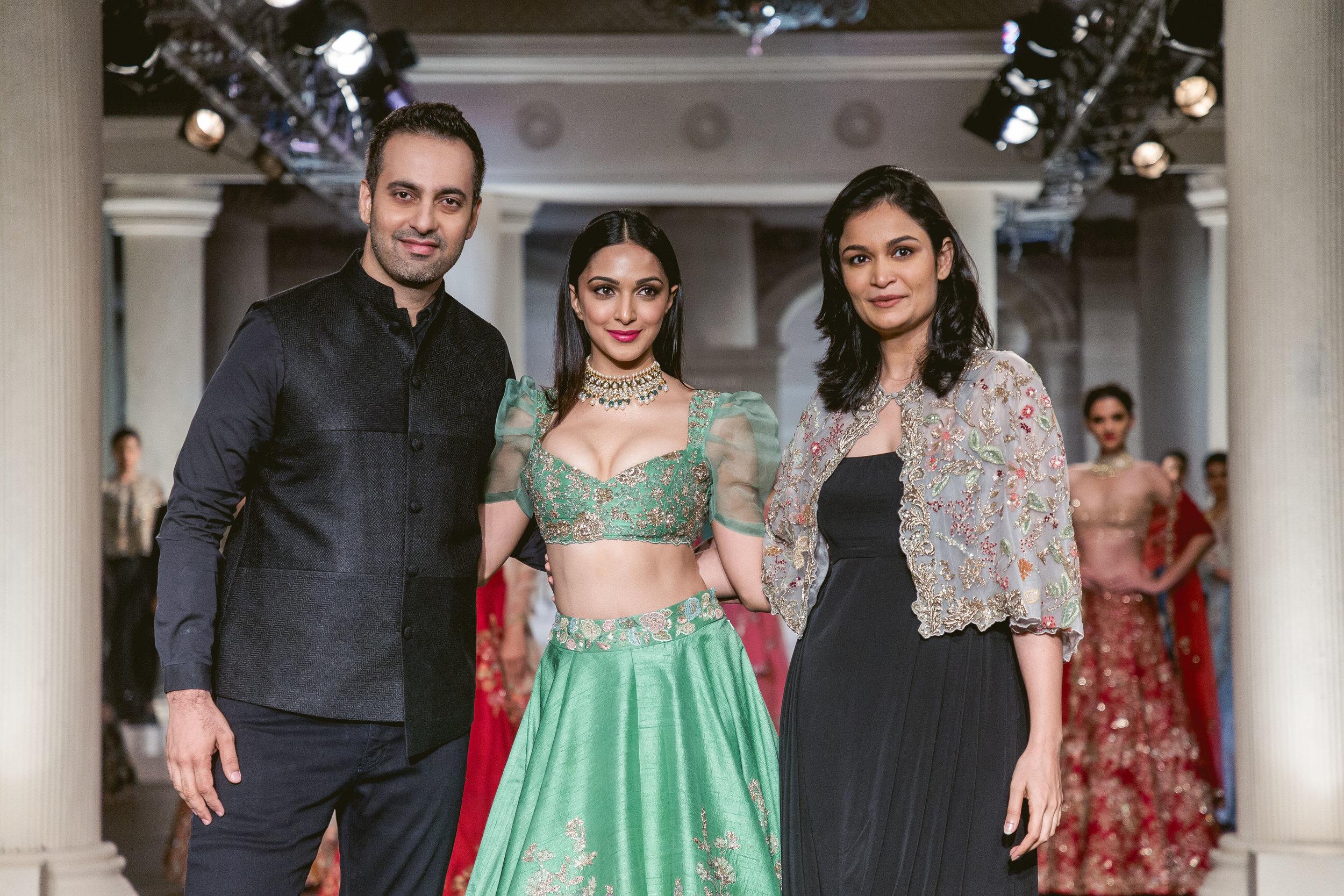 Shyamal, Kiara Advani and Bhumika at India Couture Week 2018