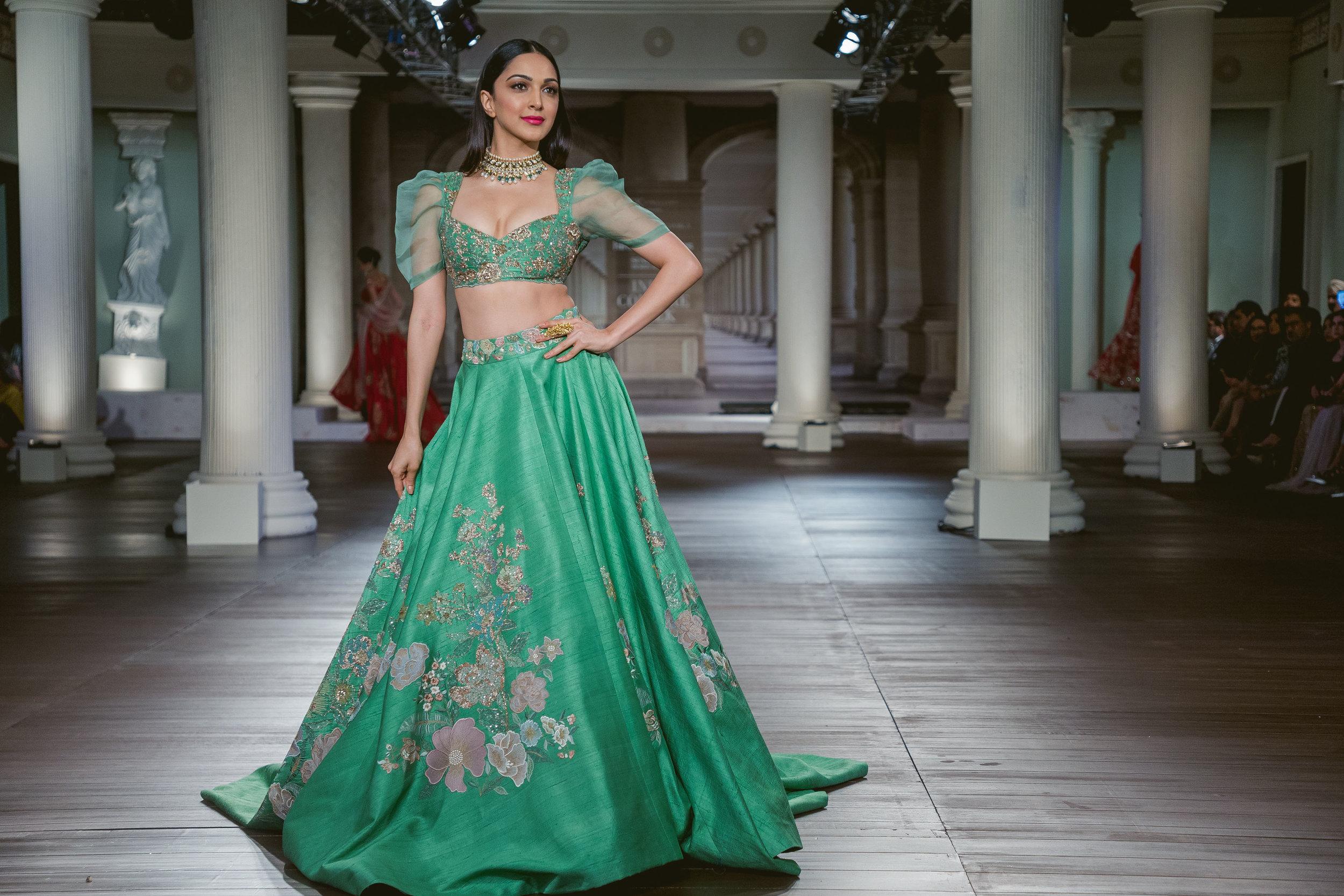 Kiara Advani looking regal in Shyamal and Bhumika couture.