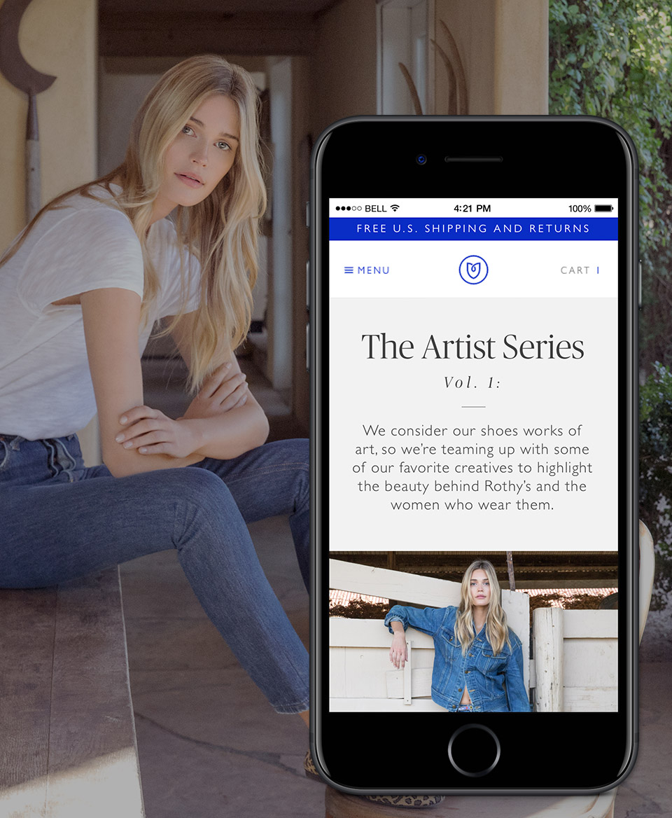 Rothy's: Product Launch Campaign - I created structure for the first Rothy's lookbook campaign, uniting multiple photography styles and various messages across channels.