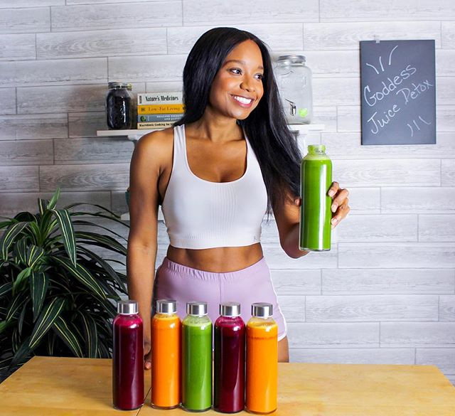So how much damage did you do over the Thanksgiving Holiday? 🥐🥧😉 I know a lot of us are in holiday recovery. A few of my friends and coworkers are recovering this week with my Goddess Detox Elixirs. Made with my Golden, Ruby, and Green Goddess detox juices. 🙌🏽 Simply start out your day with lemon water and kickstart your body's rejuvenation process by adding juices and/or smoothies to your daily meal plan. Clean fruits and veggies are the way to go for the remainder of your meals throughout the day. 🍏🥦🍓Keep this up for (at least) 3 days and you'll be back on track in no time. 😊💕 #juicedetox #detox #plantbaseddetox #fruitjuice #veggiejuice #fitchick #flattummy #flattummyremedy #plantbabe #plantbasedbabe #veganbabe #cleanliving #detoxyourbody #rejuvinate #loveyourbody #plantbaseddetox #veganfoodshare #holisticliving #holisticlifestyle #beets #drinktherainbow #beetjuice #greenjuice #greensmoothie #nourishyourself #nourishyourbody #nourishedbyanisa