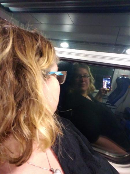 Fat on the Pisa-Cinque Terre train.