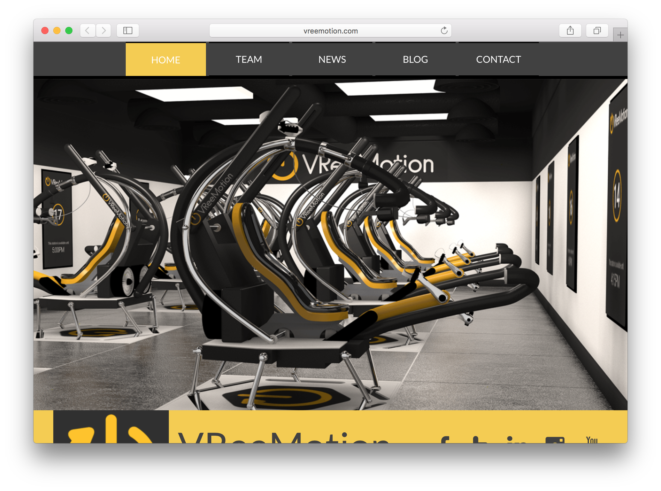 VREEMOTION - Platform which uses full motion simulation combined with a sophisticated sweat management system and controls with high fidelity feedback that not only deliver a deeply immersive experience