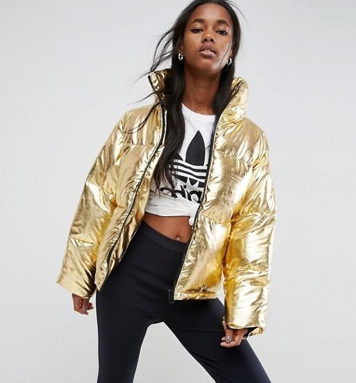 ASOS Metallic Puffer Jacket
