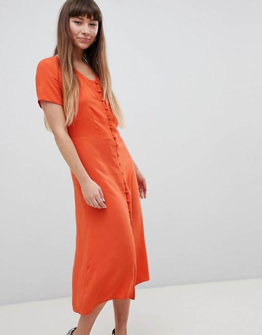 New Look Button Front Midi Tea Dress