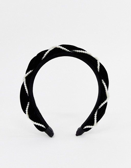 ASOS design velvet headband -