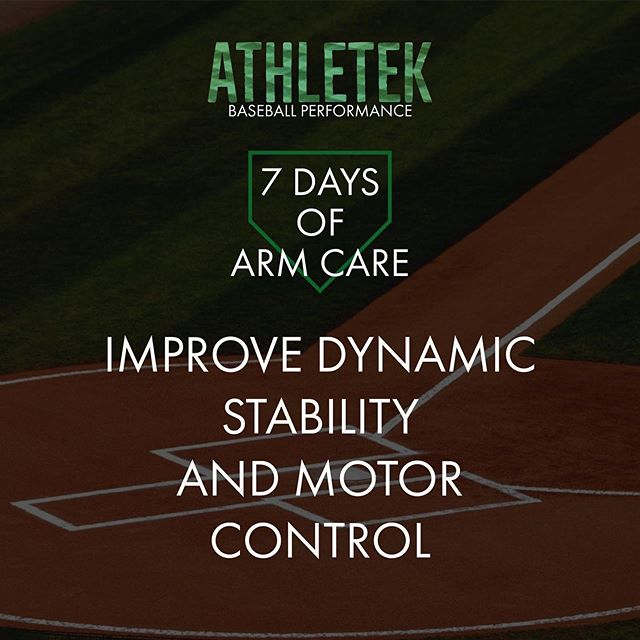 DAY 6: IMPROVE DYNAMIC STABILITY AND MOTOR CONTROL  The shoulder accelerates between 6,000 and 8,000 degrees per second when you throw a baseball, the fastest motion in sports. Every time you throw, the rotator cuff must fire on time to keep the humeral head centered in the socket.  Any arm care program should include some degree of dynamic strengthening to train the motor control and firing pattern of the stabilizing muscles used during throwing.  FACT: The elbow joint often falls victim to poor shoulder stability, as it is located is exposed to greater external forces when throwing due to its distance from the midline of our body.
