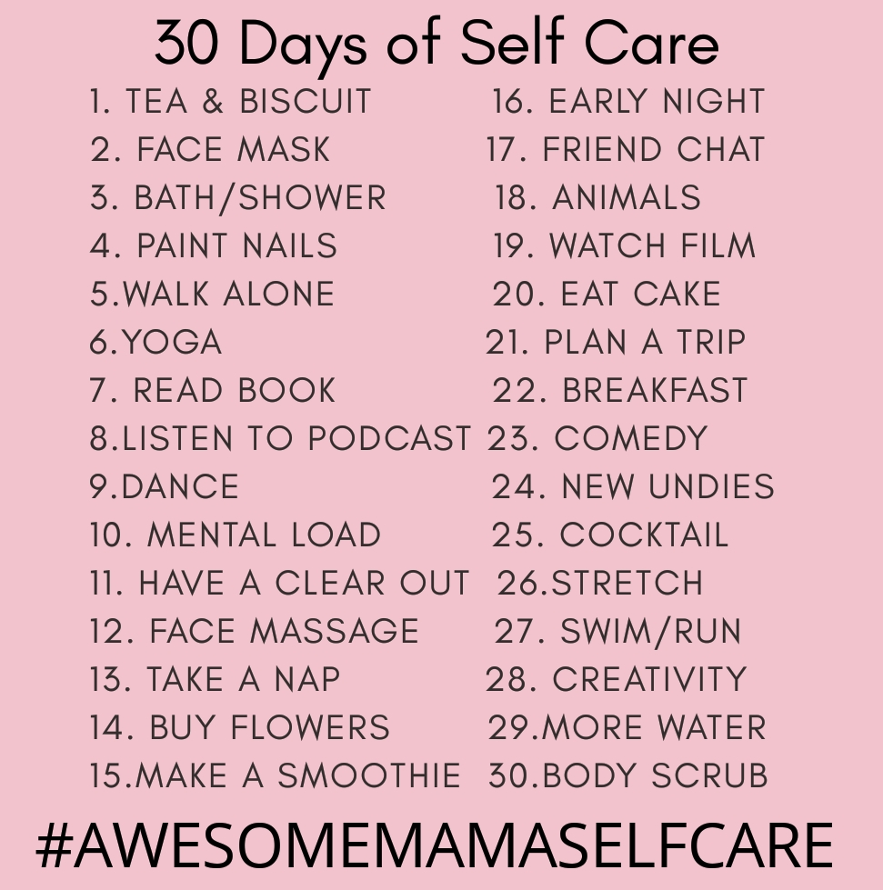 30 days of self care