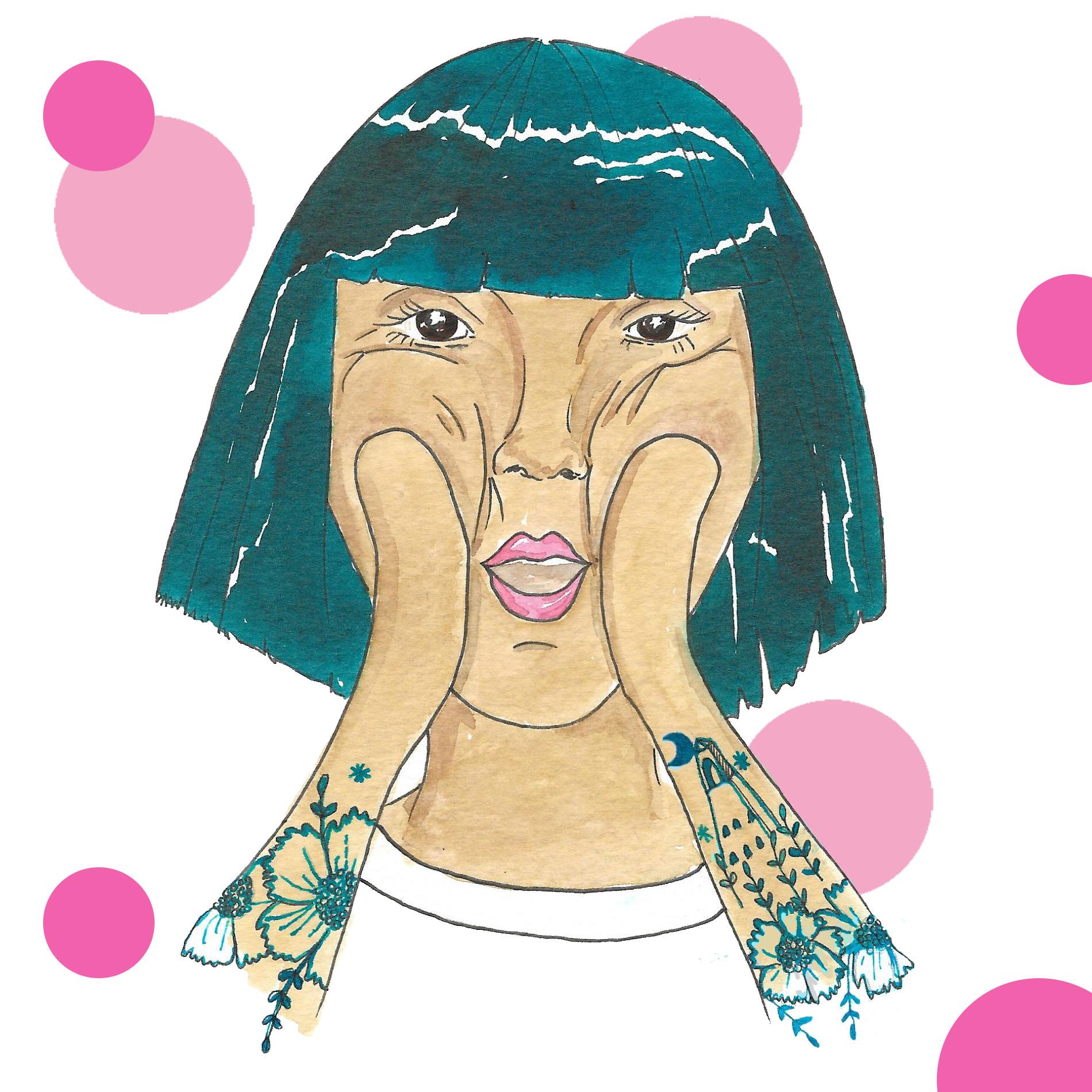face massage illustration by awesome mama illustration