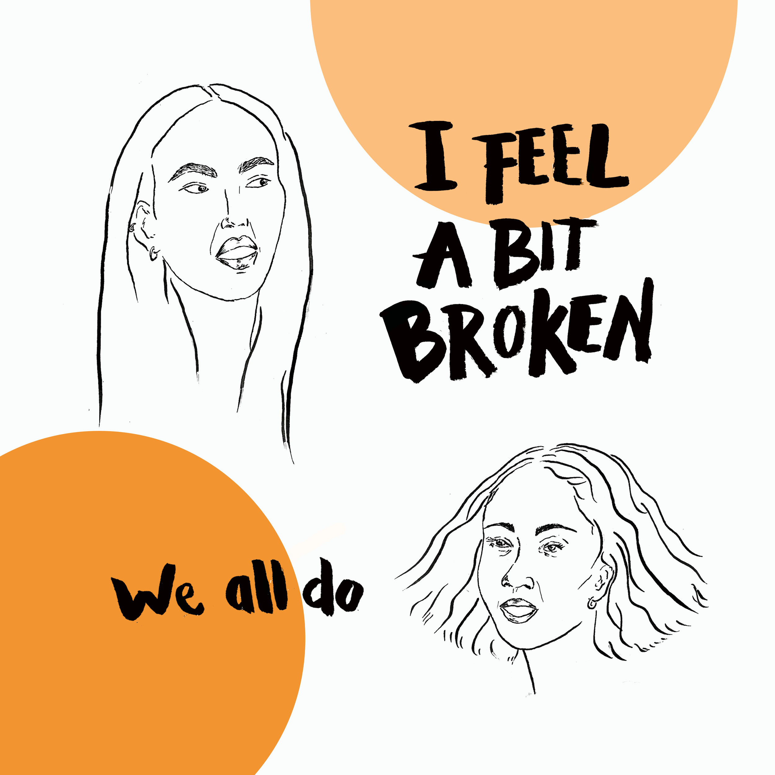 I feel a bit broken. we all do. speaking out about miscarriage by awesome mama illustration www.awesomemamaillustration.com