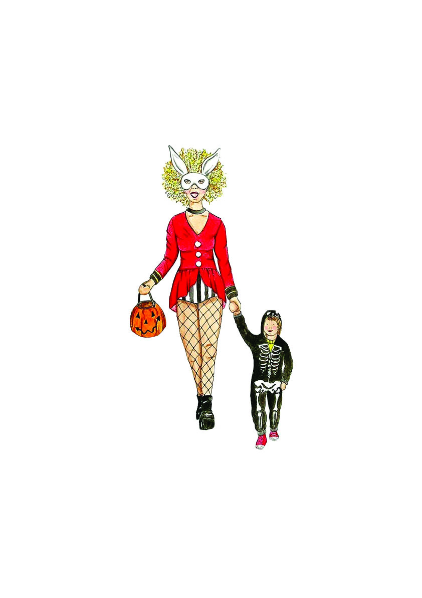 Halloween Cosplay Mum illustration by Awesome Mama Illustration.jpg