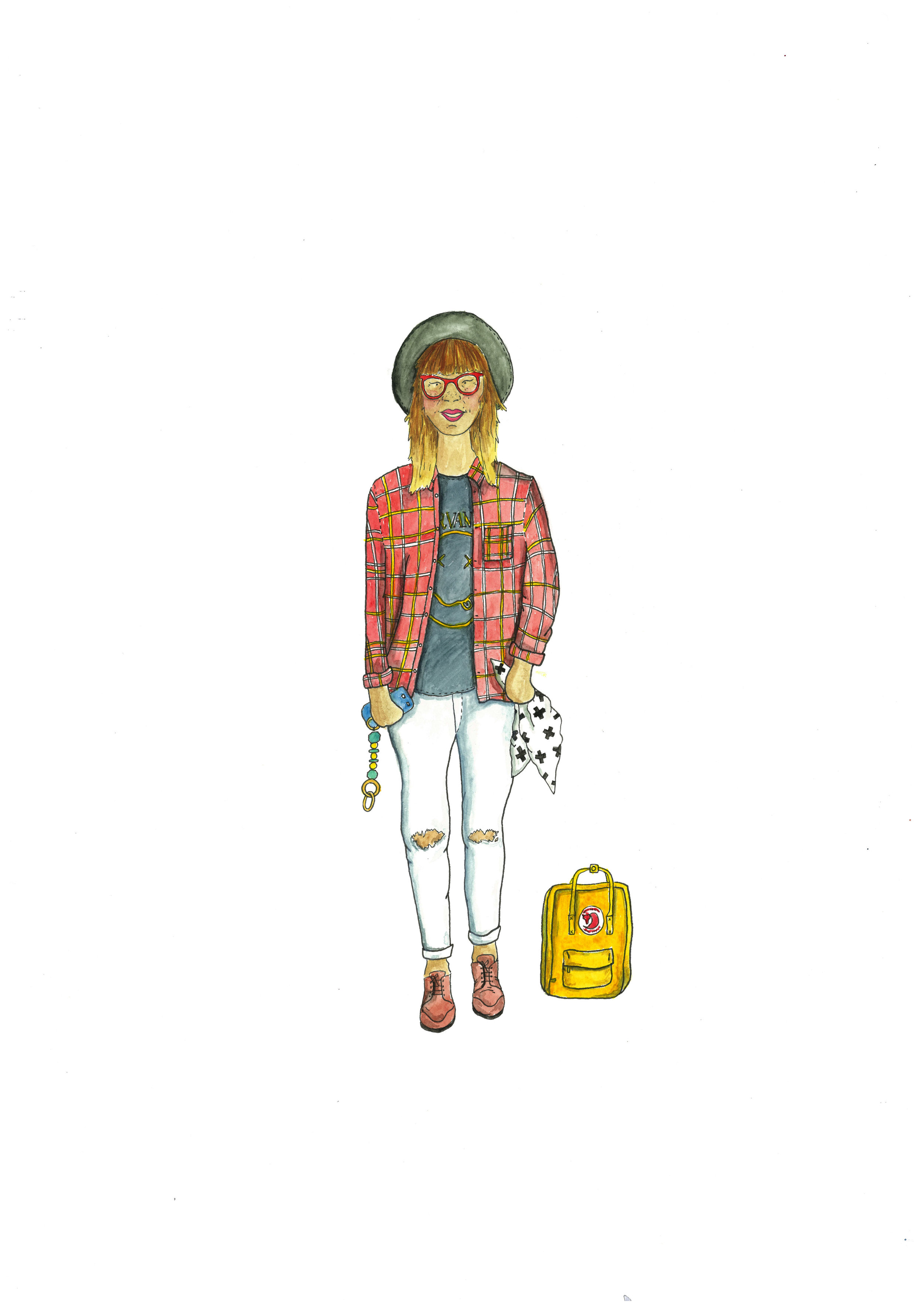 Hipster Mum Illustration by Awesome Mama Illustration.jpg