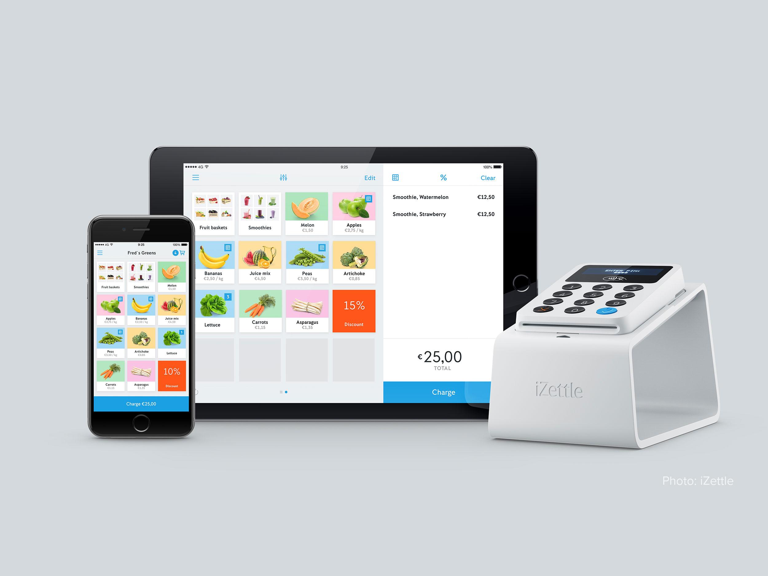 IZettle  Online Mobile payments – Pixonal – above project