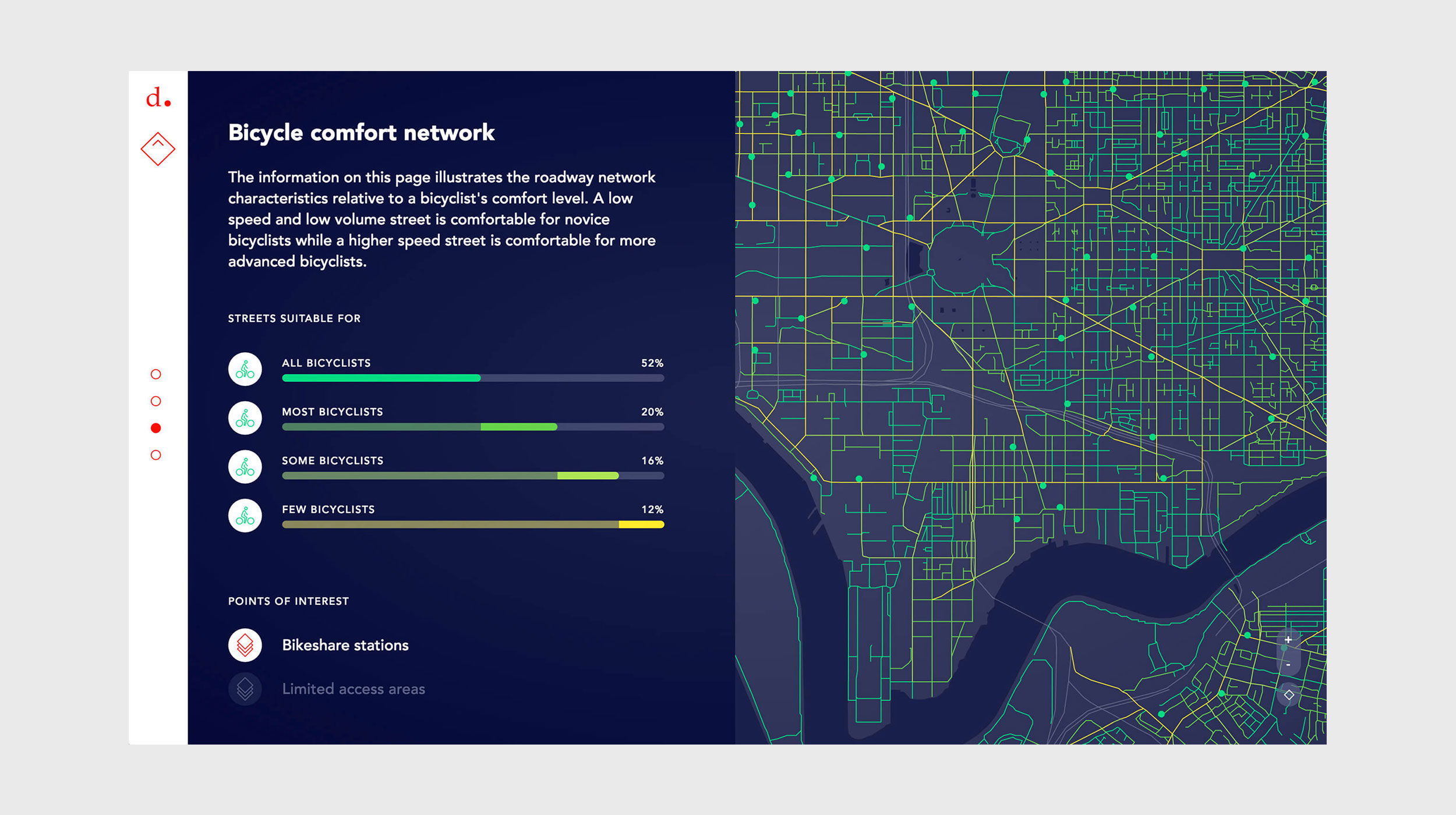 Bicycle Comfort Network – Date visualization in Chicago -Pixonal
