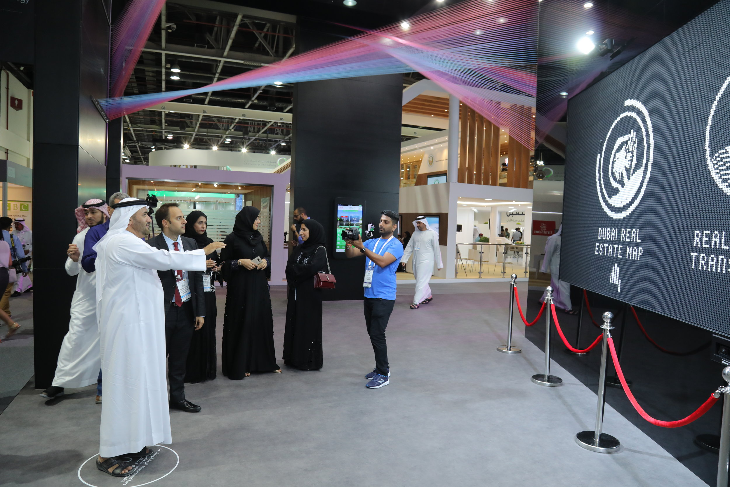 GITEX live site flip-dot screen-Pixonal