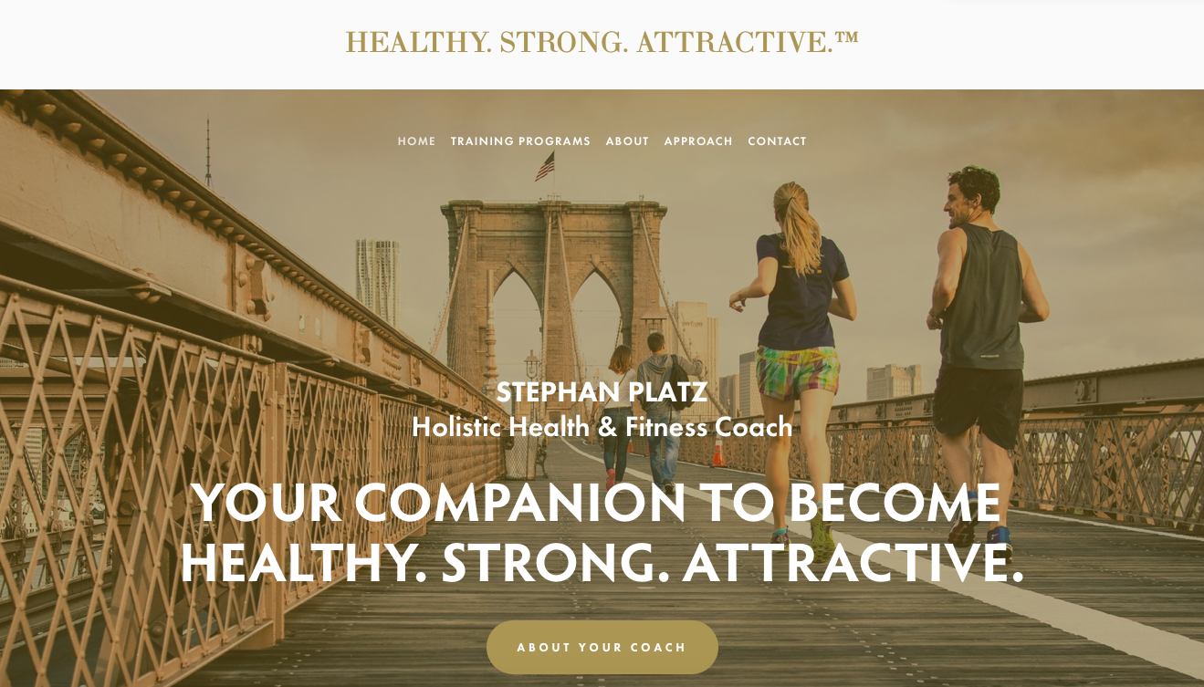 HEALTHY. STRONG. ATTRACTIVE. – Personal Trainer   (Website, BusinessCard & Online-Shop)
