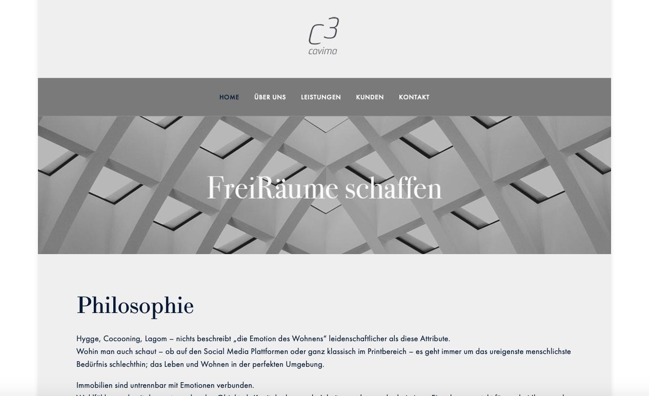 CAVIMA – Realtors  (Website & Consulting}