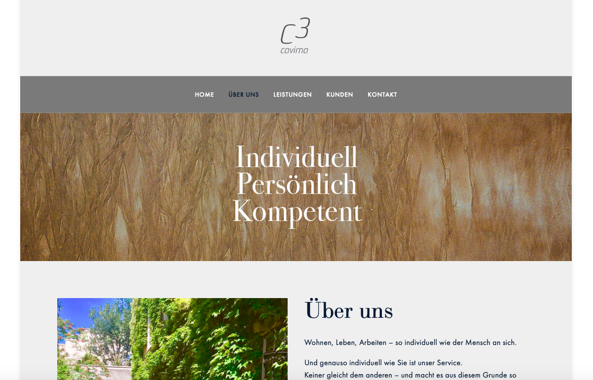 CAVIMA – Realtors  (Website & Consulting}