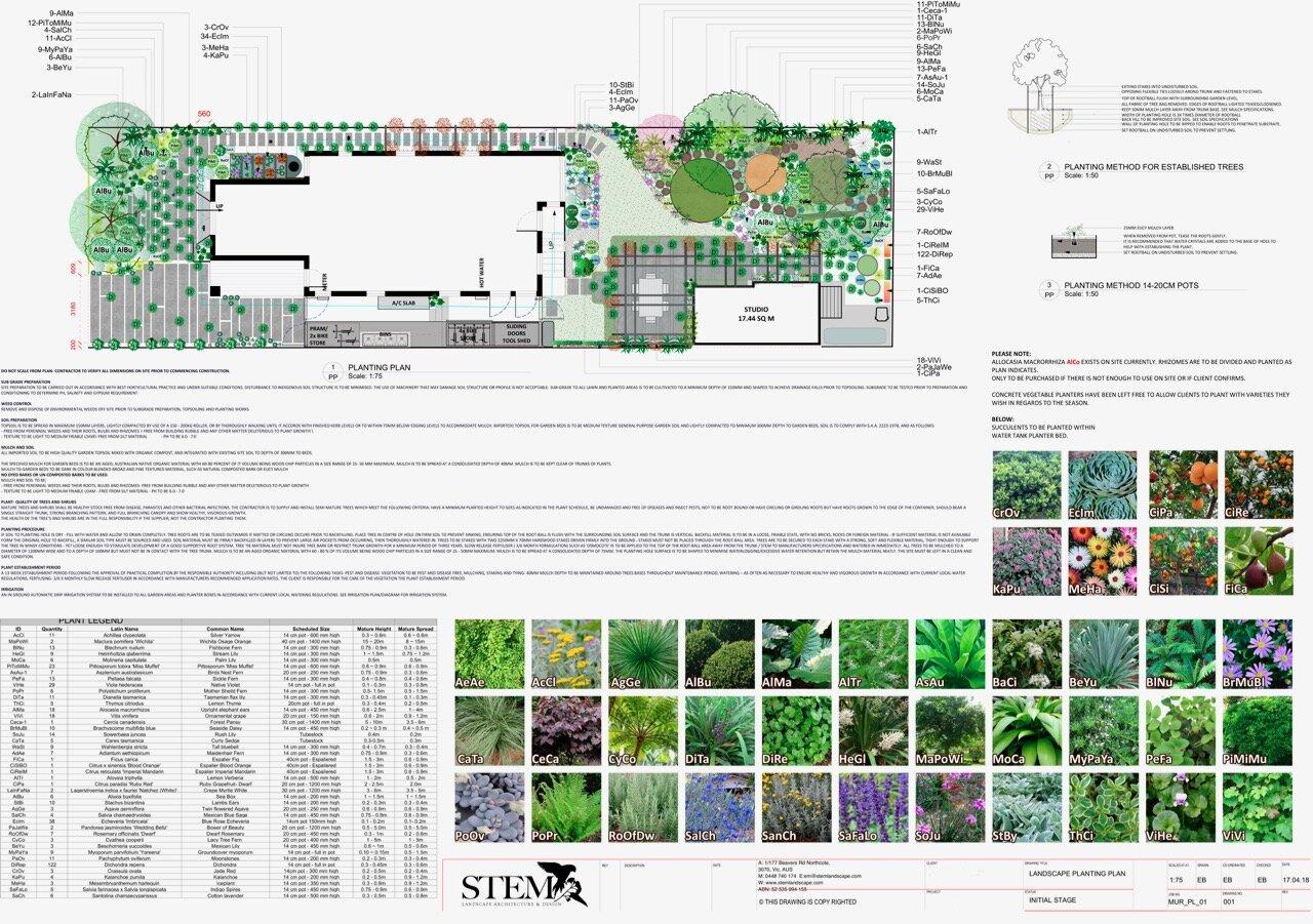 Landscape Design Planting Plan Stem Landscape Architecture