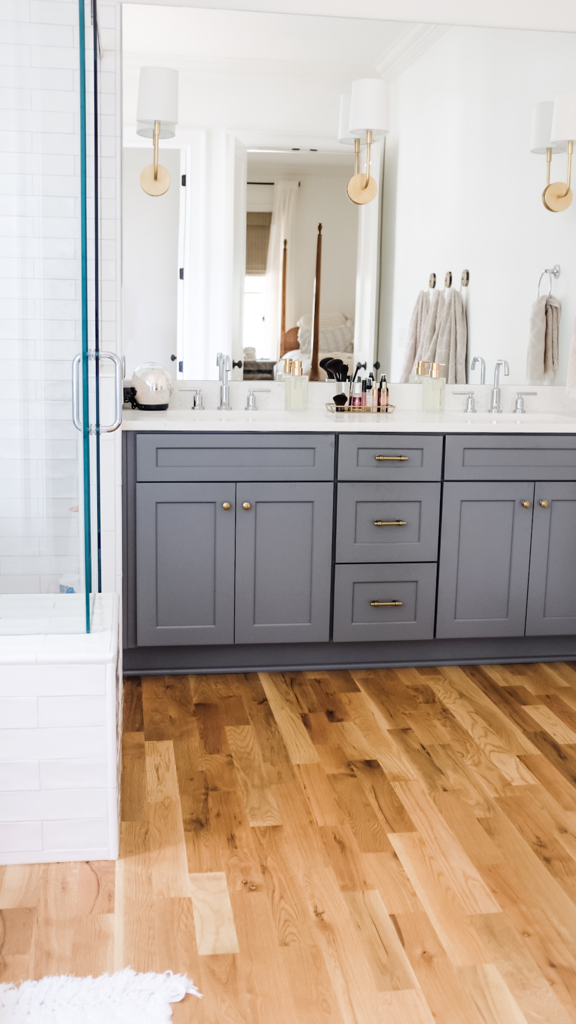 see our master bathroom tour    here