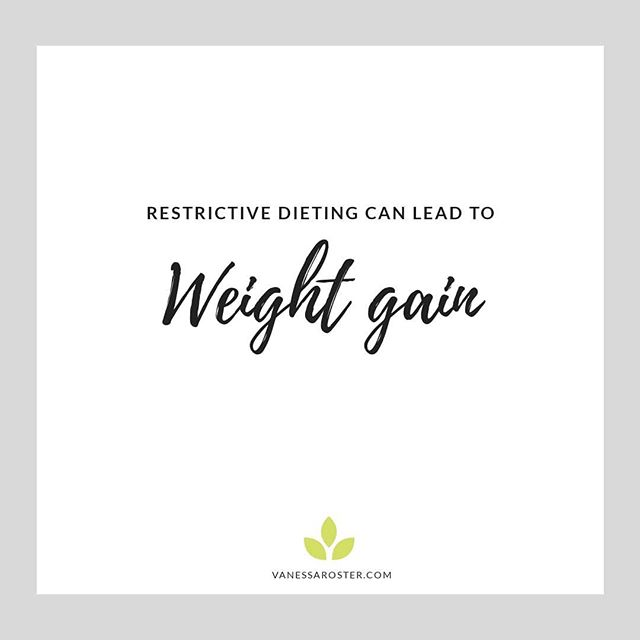 """According to research, dieting leads to weight gain. Wait, what? How does that make sense? Yup, the statistics shows that people who diet are likely to gain all the weight they lost back, plus some more. . . Let's be clear on this - there's nothing wrong with weight gain. Nothing. . . BUT, please don't let yet another fad diet mislead you to believe you will achieve thinness (and then some fake and transient sense of happiness) by going on a crazy weight loss diet which ultimately make you feel like 💩 . . Want to know more? Head over to my blog and read """"4 Reasons Why Dieting Leads To Weight Gain"""" to get the juicy info! 🌟 . . . . . . . . #veganyum #veganblt #vegannutrition #easybreakfast #healthylunch #happyvegan #eatplants #eating #glutenfree #time #instavegan #veganlove #eatfit #kitchenbowl #intuitiveeating #easyweightloss #veganbreakfast #fastweightloss #veganbreakfast #breakfastideas #disorderedeating #healingfood #onlinebusiness #vegansofinstagram #easyvegan #whatveganseat #vegannutritionist #healthyveganbreakfast #eatyum"""