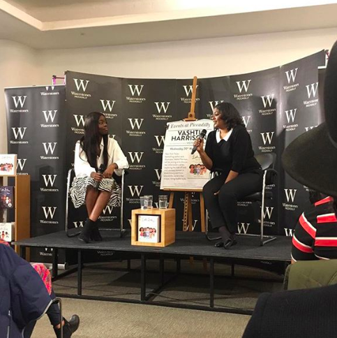 Chairing a conversation with Vashti Harrison author/ illustrator of Lttle Lwaders series - March 2019.