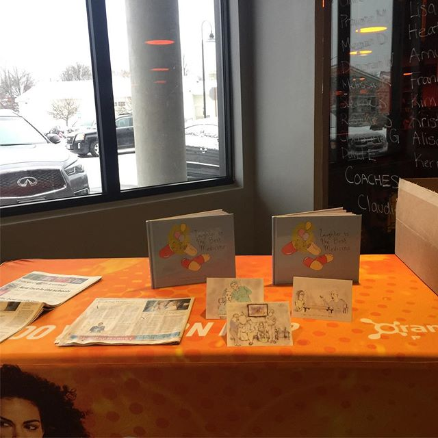 Thanks @otfconcord for showcasing our book! Love to be involved in the community #laughterishealing #laughteristhebestmedicine #orangetheoryfitness #otffitfam #cancerhumor