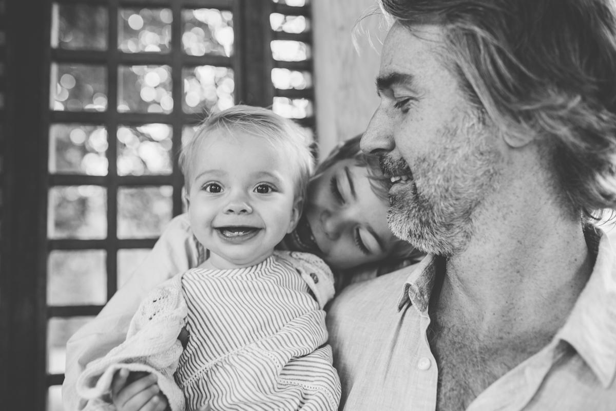Pappa med sina barn