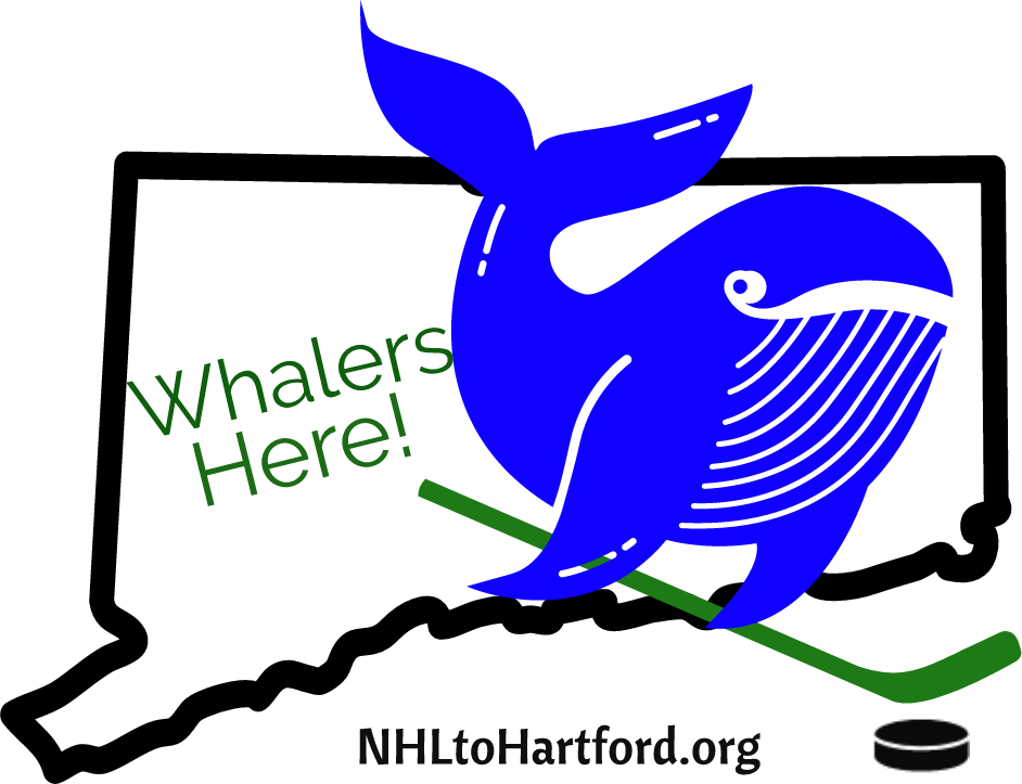 Our Mission... - If you lived in Connecticut in the 1980s or early 1990s, you remember a Whaler home game as an EVENT. Streets were alive with people selling tickets, displaying shirts, logos, caps, and pucks. Restaurants were filled. Pubs were raucous. Schoolchildren stayed up late to listen to broadcasts. All for a usually sub-.500 team.Since the Whalers left in early 1997 Hartford has never been as vibrant.Connecticut will get an NHL team back.
