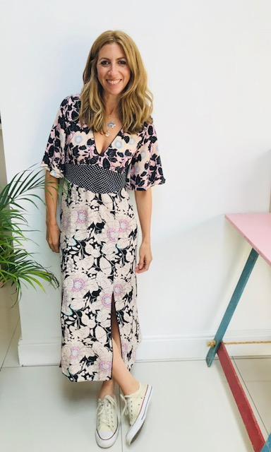 Pink floral dress: £49  TOPSHOP   Rixo(ish) Floral detail Pattern clash
