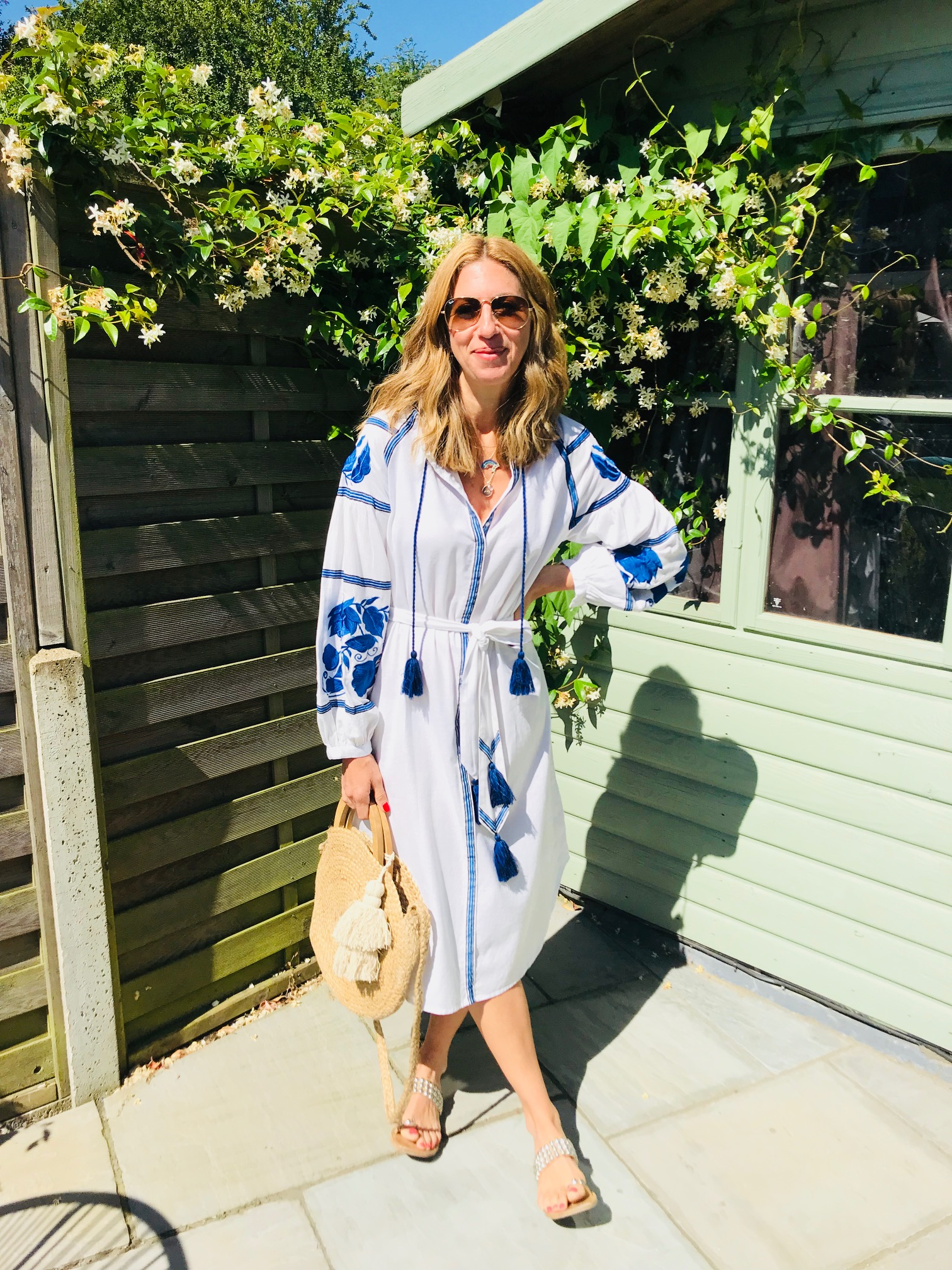Kaftan - From Kirei was £130 now £78Great embroidery detailsPerfect over a bikini (slightly sheer)Generous fit. This is XSCotton