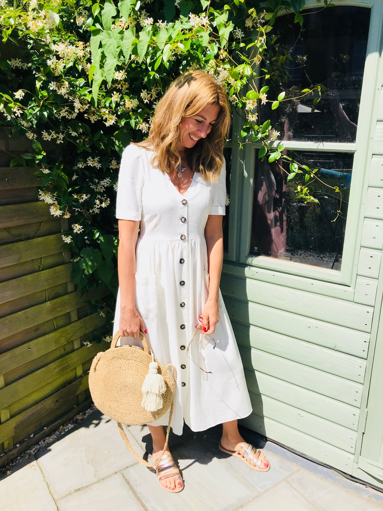 Sundress - From Zara£39.99One of Zara's great summer dressesThis is a small and it's a perfect fitLinen mixPart lined