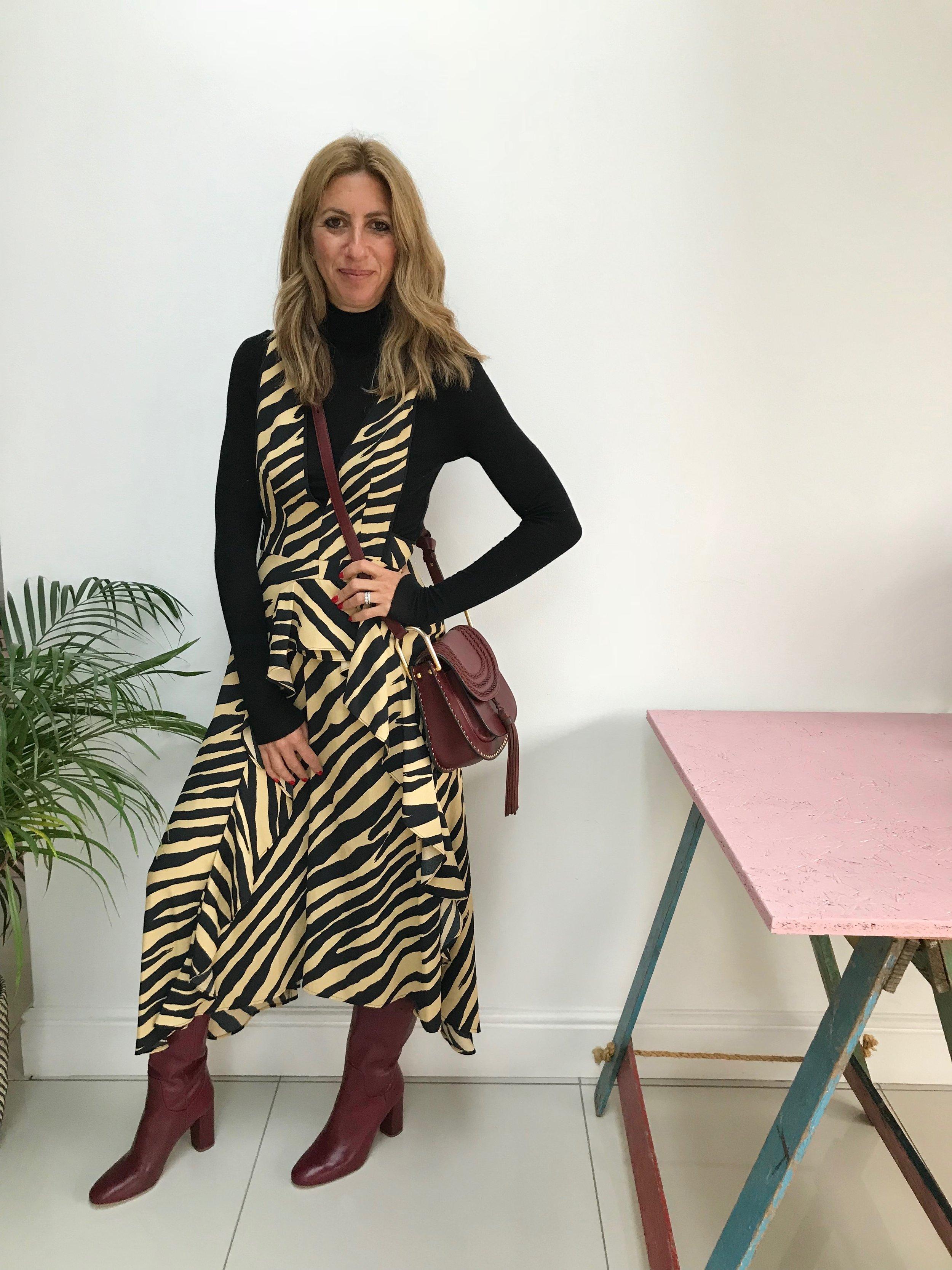 Dress:  Topshop  Top:  Asos  Boots: Zara