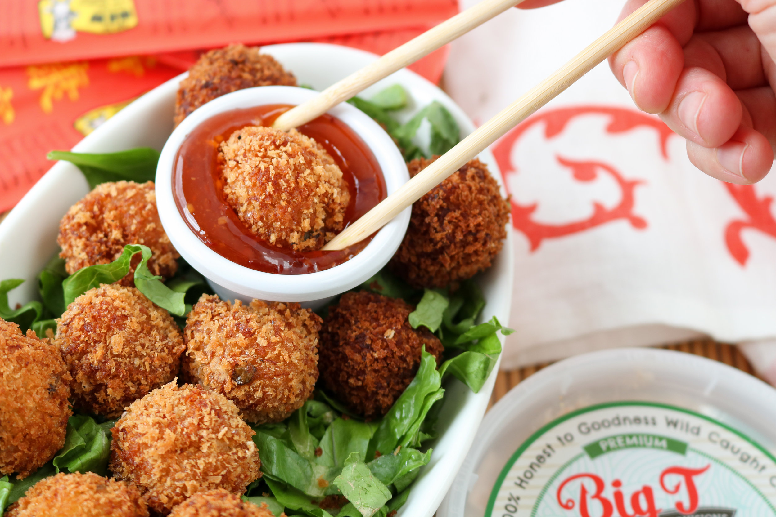 Spicy Asian Crab Balls With Sweet Chili Dipping Sauce Big T Coastal Provisions