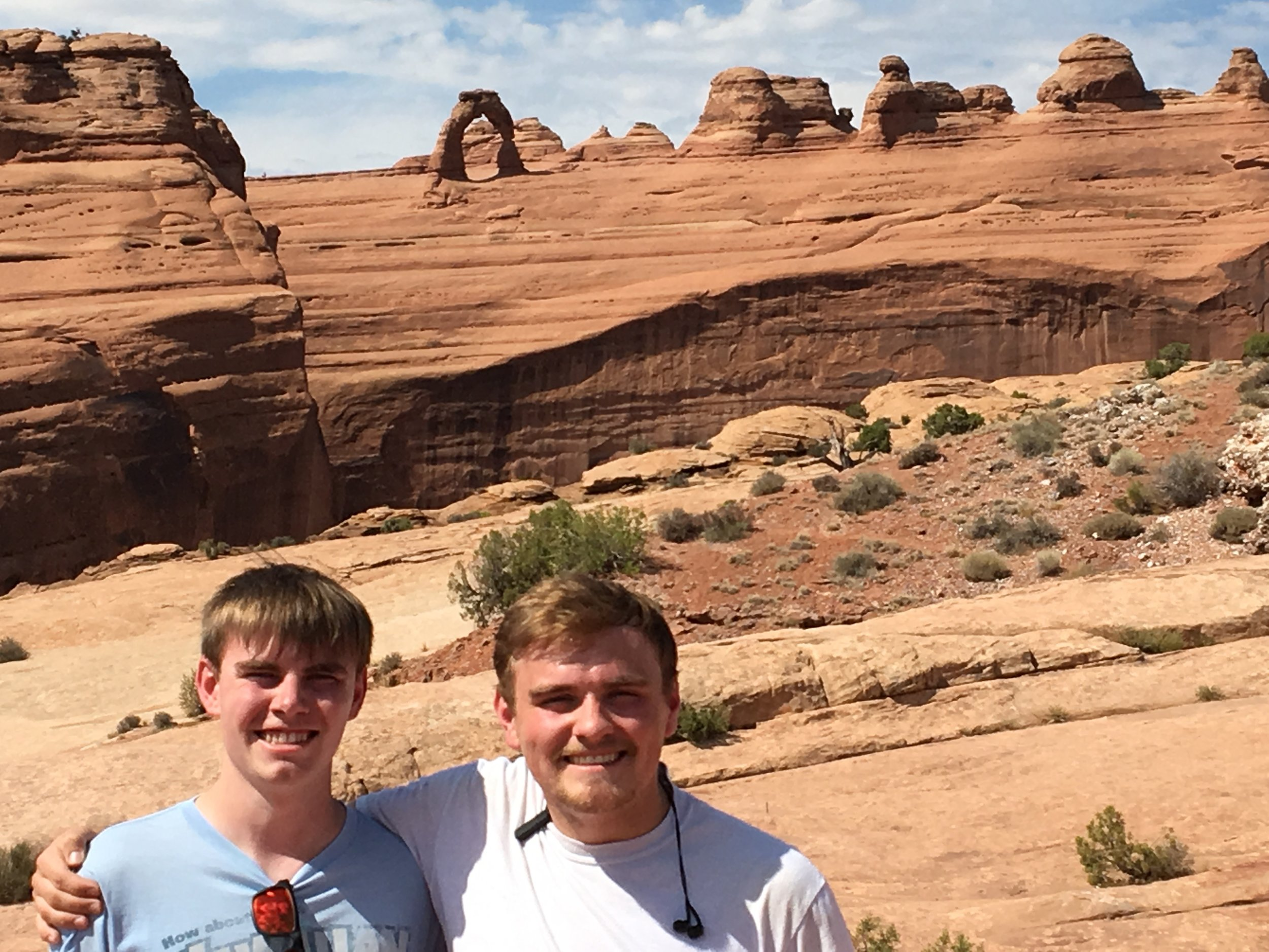 My brother (left) and me (right) at Arches National Park