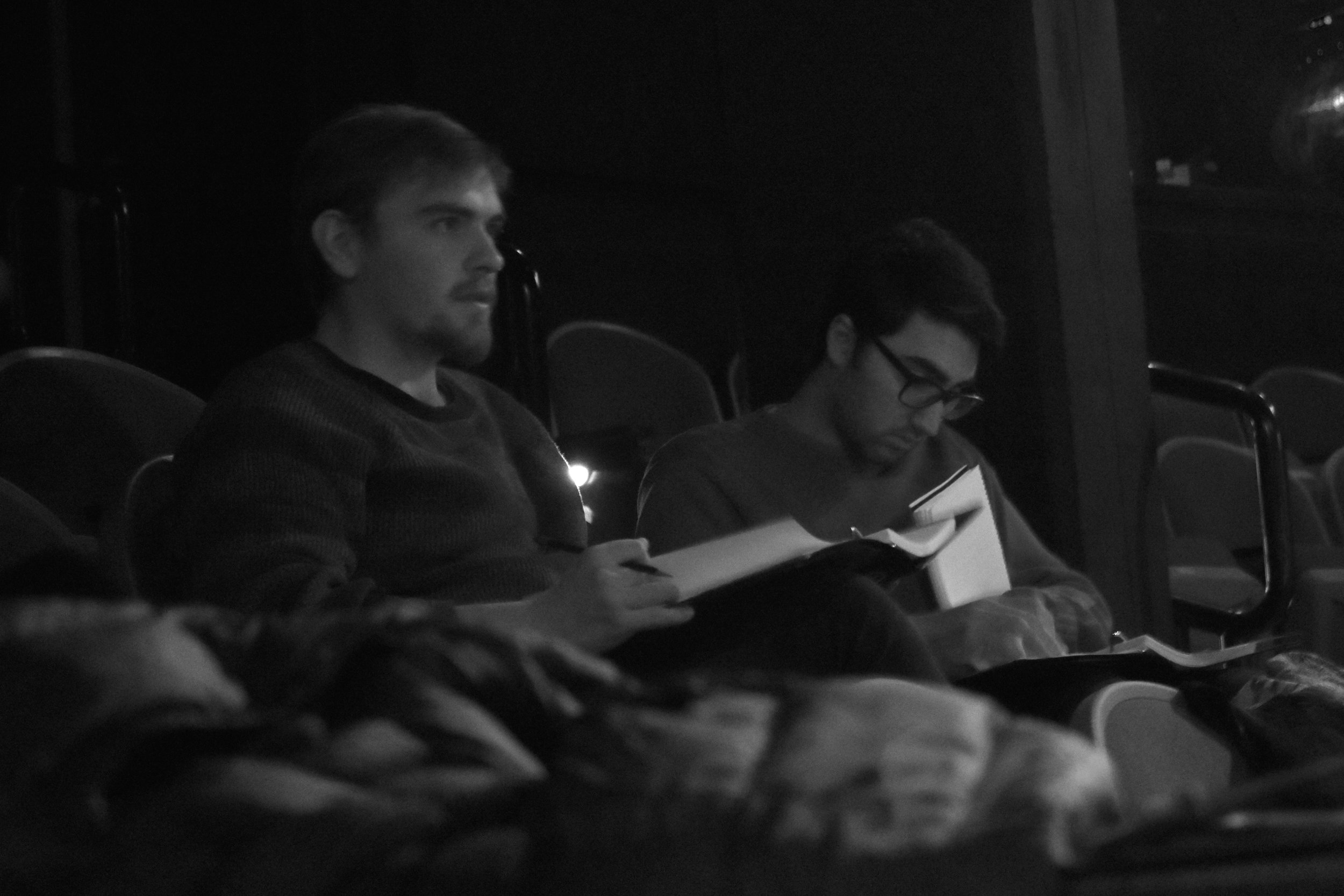 Me (left) and Alex Wakim (Right) working on  An American in Beirut (2018)