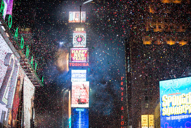 2018 New Year's Eve-Times Square NYC