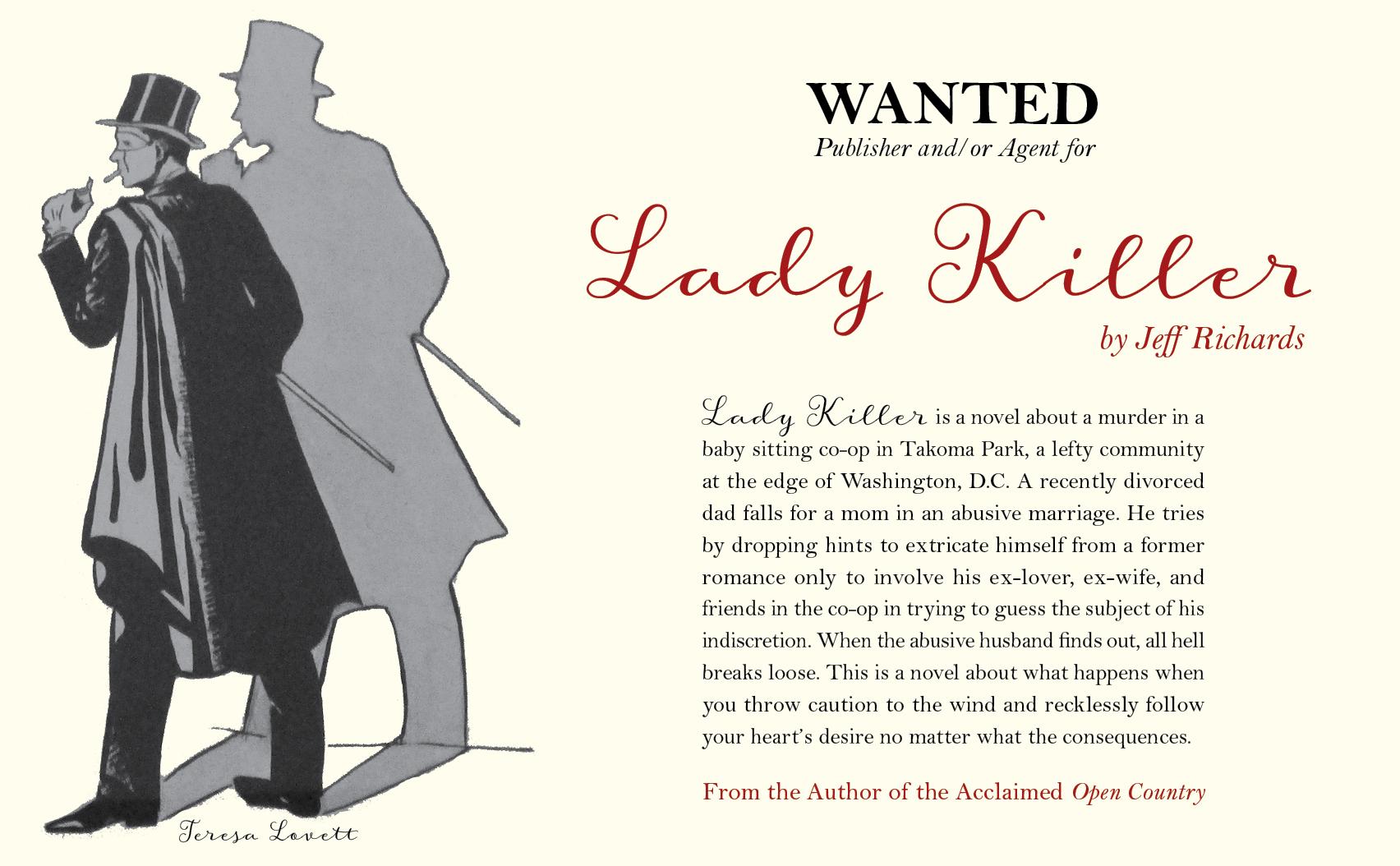 Postcard for Jeff Richard's LADY KILLER