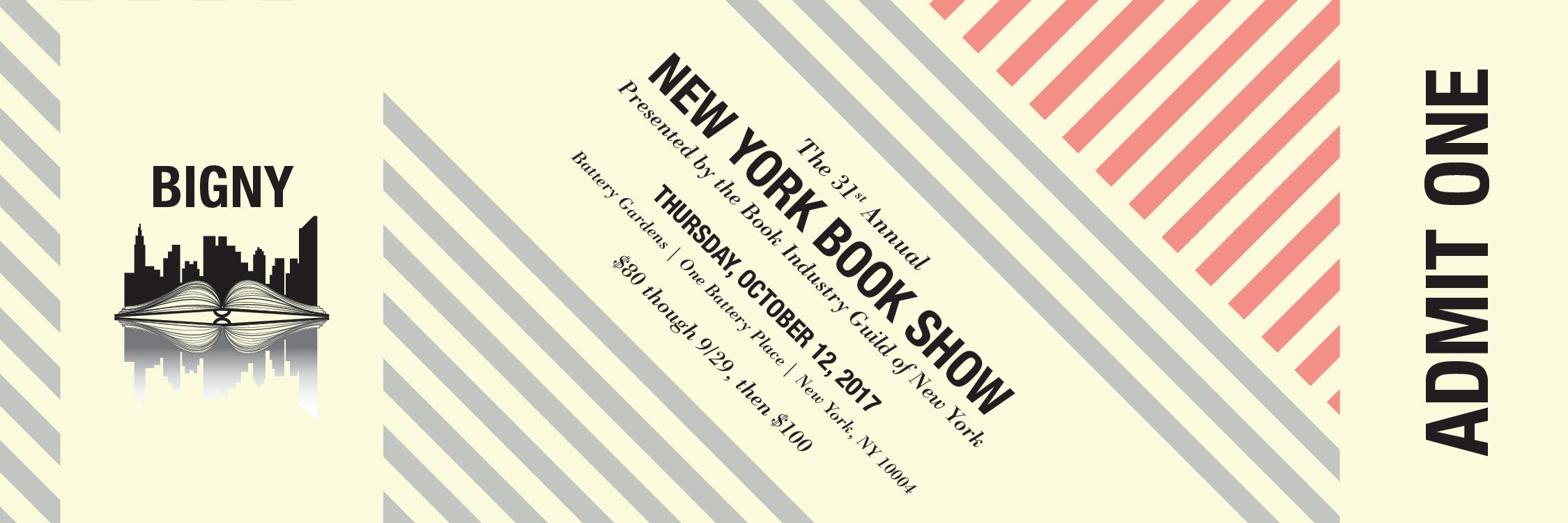 New York Book Show 2017 ticket