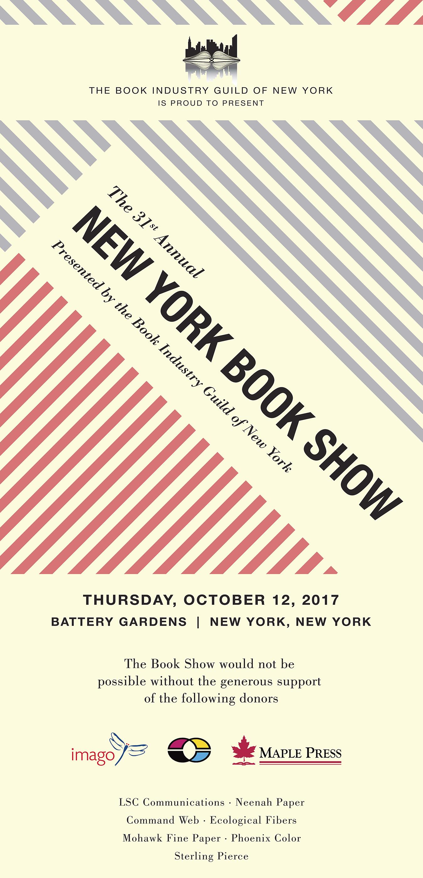 New York Book Show 2017 banner